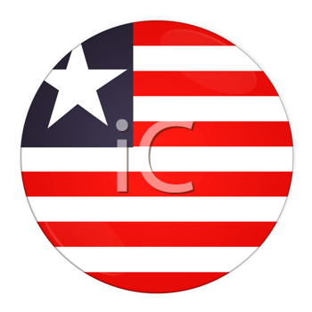 Abstract illustration: button with flag from Liberia country