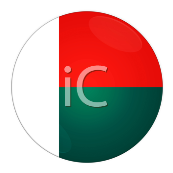 Abstract illustration: button with flag from Madagascar country