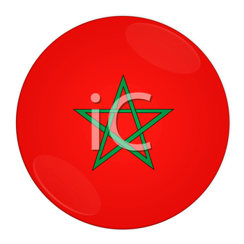 Abstract illustration: button with flag from Morocco country