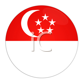 Abstract illustration: button with flag from Singapore 