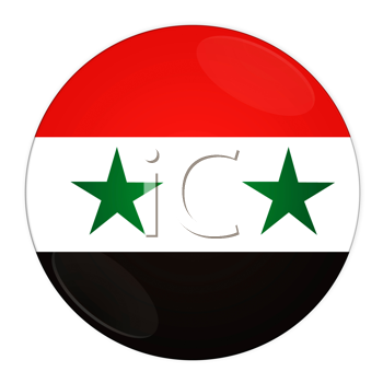 Abstract illustration: button with flag from Syria country