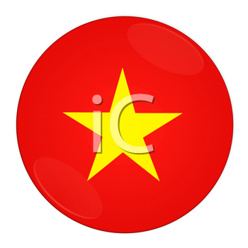 Abstract illustration: button with flag from Vietnam country