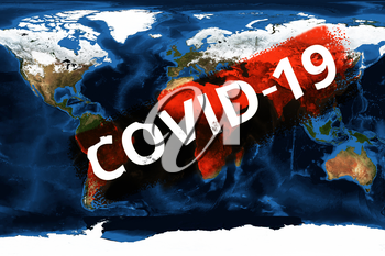 Pandemic coronavirus covid-19 worldwide, concept. Elements of this image furnished by NASA