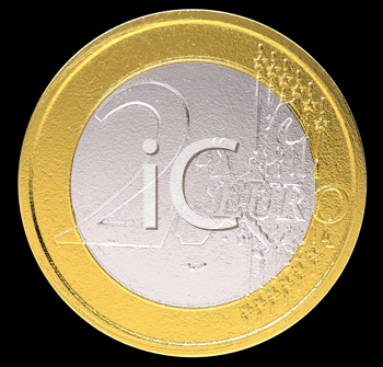Royalty Free Clipart Image of Two Euros