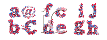 Royalty Free Clipart Image of Abstract Letters
