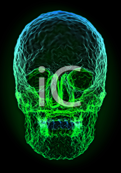 Royalty Free Clipart Image of an Abstract Skull