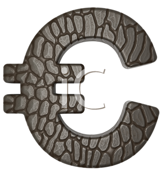 Royalty Free Clipart Image of an Alligator Skin Euro Sign