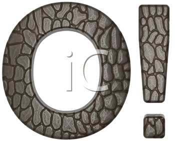 Royalty Free Clipart Image of Alligator Skin Font