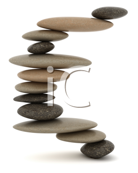 Royalty Free Clipart Image of Stones Balancing