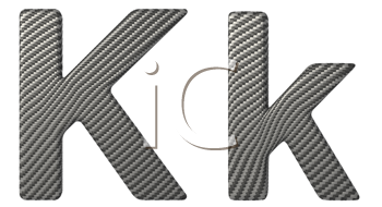 Royalty Free Clipart Image of a Capital and Lowercase K