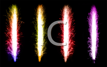 Royalty Free Clipart Image of Fireworks