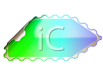 Royalty Free Clipart Image of a Colorful Jagged Sticker