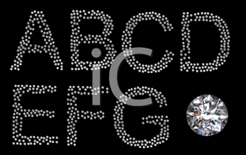 Royalty Free Clipart Image of Diamond Letters
