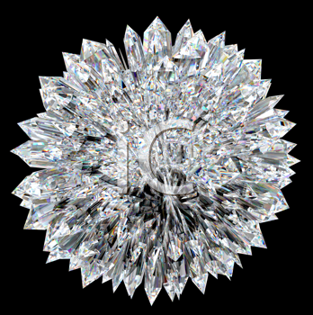 Royalty Free Clipart Image of a Diamond Ball