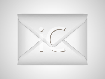 Royalty Free Clipart Image of a Sealed Envelope