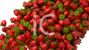 Royalty Free Clipart Image of Strawberries
