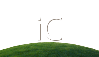 Royalty Free Clipart Image of a Grassy Hill