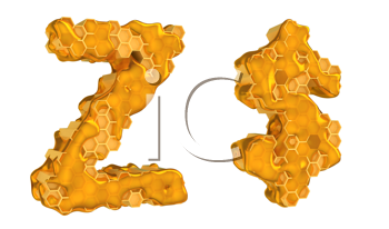 Royalty Free Clipart Image of Honey Font