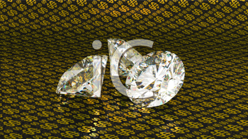 Royalty Free Clipart Image of a Diamond Background