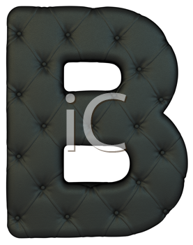 Royalty Free Clipart Image of a Black Leather Font B