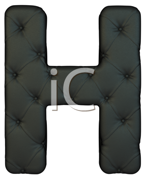 Royalty Free Clipart Image of a Black Leather Font H
