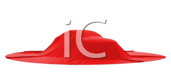 Royalty Free Clipart Image of a Car Covered With Cloth