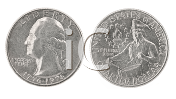 Royalty Free Clipart Image of United States Coins