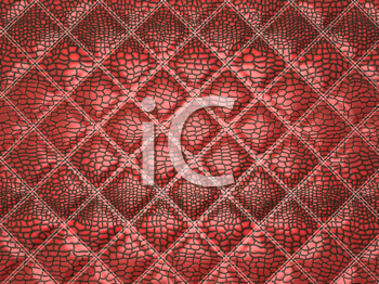 Royalty Free Clipart Image of a Red Alligator Skin Background