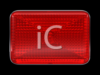 Royalty Free Clipart Image of a Red Headlight