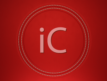 Royalty Free Clipart Image of a Red Stitched Leather Background