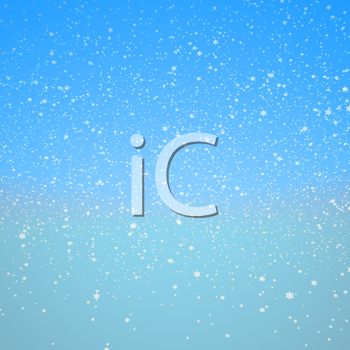 Royalty Free Clipart Image of a Snowy Background