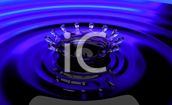 Royalty Free Clipart Image of a Liquid Background