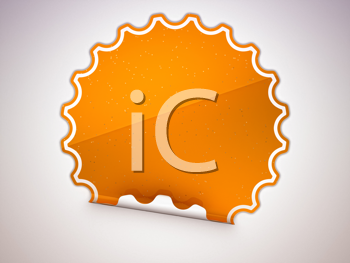 Royalty Free Clipart Image of an Orange Sticker