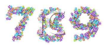 Royalty Free Clipart Image of Candy Numbers
