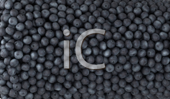 Royalty Free Photo of a Background of Blueberries