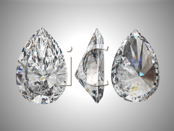 Royalty Free Clipart Image of a Pear Shaped Diamond