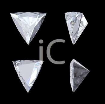 Royalty Free Clipart Image of Trillion Diamonds
