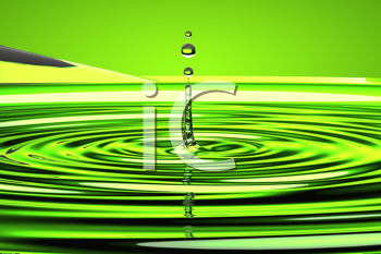 Royalty Free Clipart Image of a Splash of Water