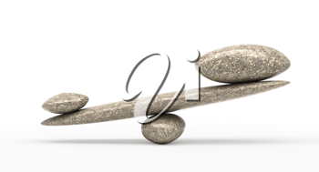 Significance: Pebble stability scales with large and small stones