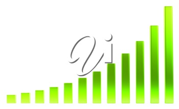 Success: green diagram or chart over white background