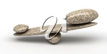 Weighty thing: Pebble stability scales with large and small stones