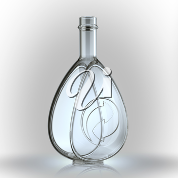 Recycled glass bottle manufacture concept. Large resolution