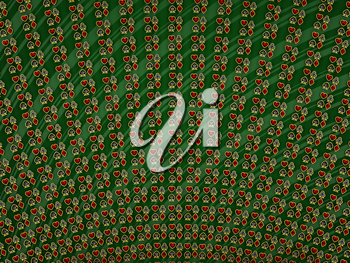 Diamond card suits symbols over green striped background