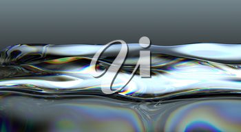 Liquid fuel waves and splashes. Large resolution