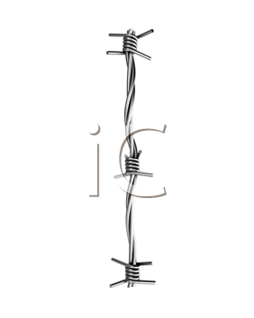 Royalty Free Clipart Image of a Barbed Wire I