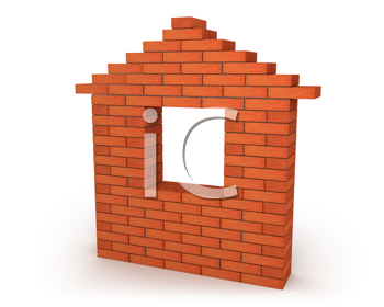 Royalty Free Clipart Image of a Brick Wall