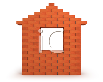 Royalty Free Clipart Image of a Brick Facade