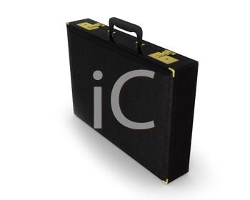 Royalty Free Clipart Image of a Black Briefcase
