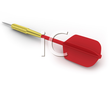 Royalty Free Clipart Image of a Dart