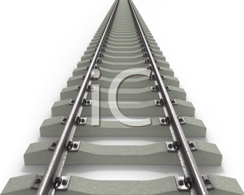Royalty Free Clipart Image of Long Rails